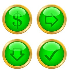 Green buttons for web vector