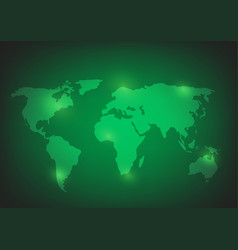World map background on green vector