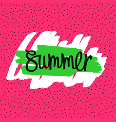 Summer - handwritten inscription vector