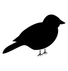 Bird the black color icon vector