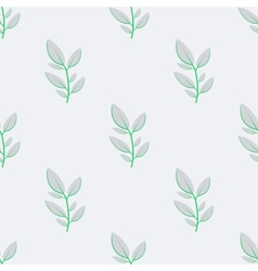 Floral seamless pattern with a leaf vector image