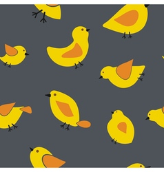 Seamless background with birds vector