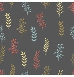 Hand drawn nature brunch seamless pattern vector
