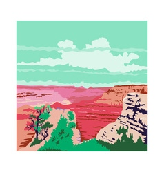 Grand canyon arizona wpa vector