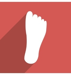 Foot sole flat long shadow square icon vector