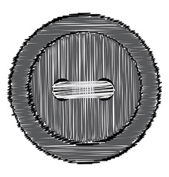 Sewing button of the lines vector