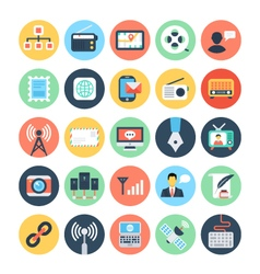 Communication flat icons 2 vector