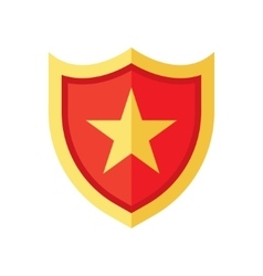 Shield icon with star vector