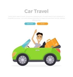 Vacation car travelling vector