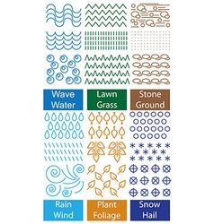 Ornament and symbols nature vector