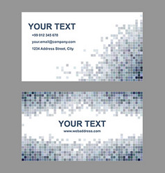 Abstract square mosaic business card design vector