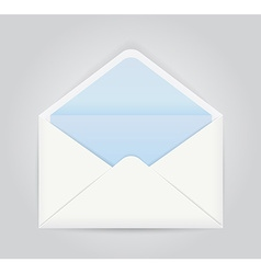 Blue white opened envelope vector image vector image