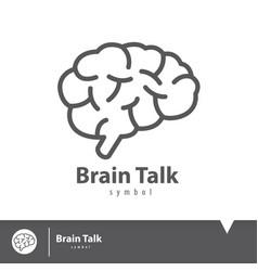 brain talk icon symbol vector image