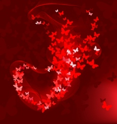 butterfly out of heart vector image vector image