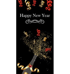 Champagne bottle new year vector