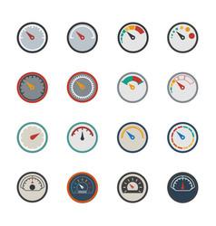 circular meter icons set vector image vector image