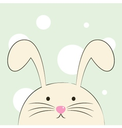 Cute beautiful easter bunny isolated on green back vector image vector image