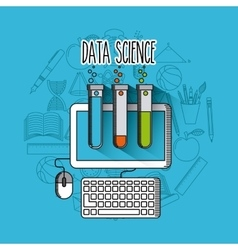 data science online flat icons vector image