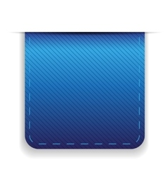 Empty ribbon blue vector image vector image