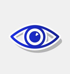 eye sign new year bluish vector image vector image