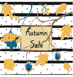 fall sale card advertising vector image