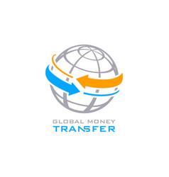 global money transfer vector image vector image