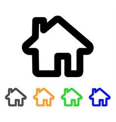 home stroke icon vector image