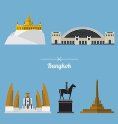 Icon set of Bangkok city landmark in flat design vector image vector image