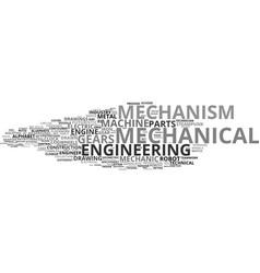 Mechanism word cloud concept vector