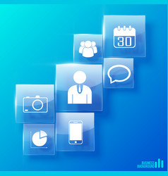 modern business icons set vector image vector image