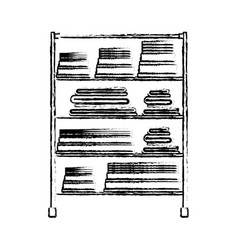 monochrome blurred silhouette of rack with pile vector image