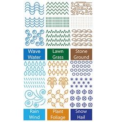 ornament and symbols nature vector image