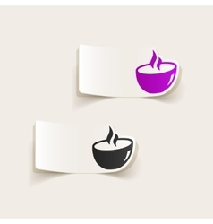 Realistic design element dish vector