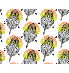 Seamless pattern graphic ornament floral stylish vector