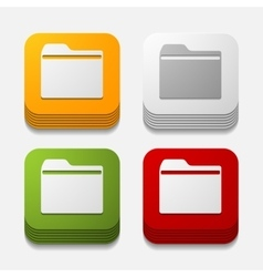 Square button folder vector