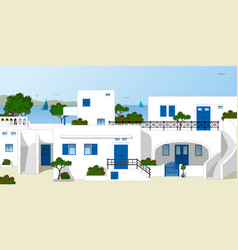 Traditional greek houses vector