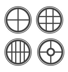 window icon set sign symbol vector image