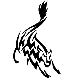 wolf in tribal style - vector image vector image