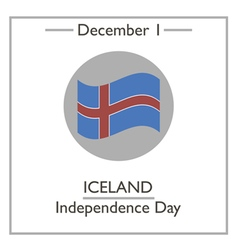 Iceland Independence Day vector image