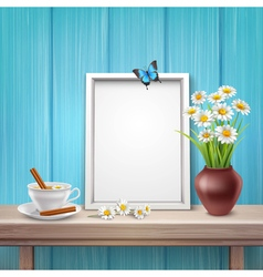 Light frame mockup vector