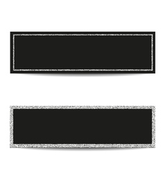 Horizontal banner templates with silver frames vector
