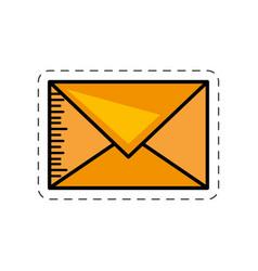 cartoon message mail envelope image vector image
