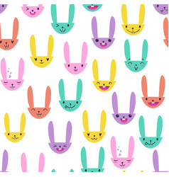 Rabbit seamless pattern-03 vector