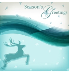 Abstract Christmas background with reindeer vector image