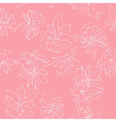 Apple flowers white pattern vector