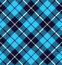 Blue tartan fabric texture diagonal little pattern vector