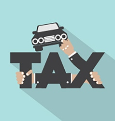 Car tax typography design vector