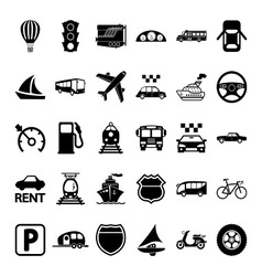 30 transport icons vector