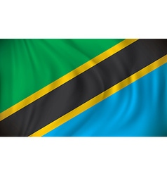 Flag of tanzania vector