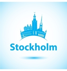 Silhouette of stockholm sweden city vector
